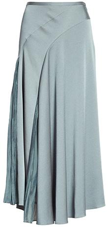 Vince Mixed Media Panel Asymmetrical Skirt | 40plusstyle.com