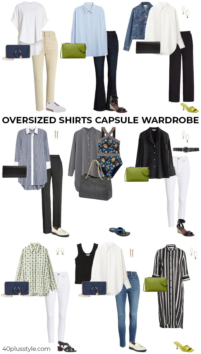 Armario cápsula camisa oversize |  40plusstyle.com