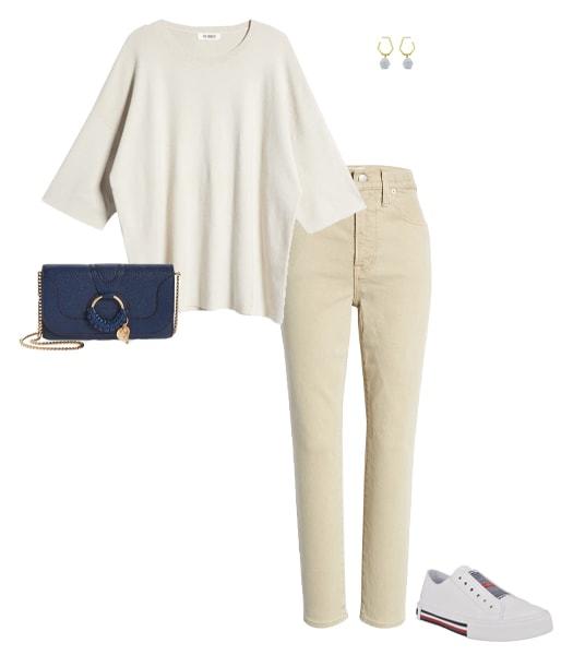 Camisa extragrande metida en los pantalones |  40plusstyle.com