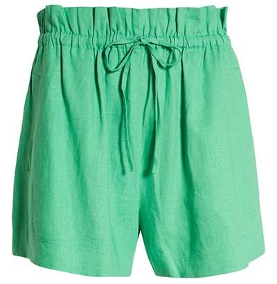 Open Edit paperbag waist shorts   40plusstyle.com