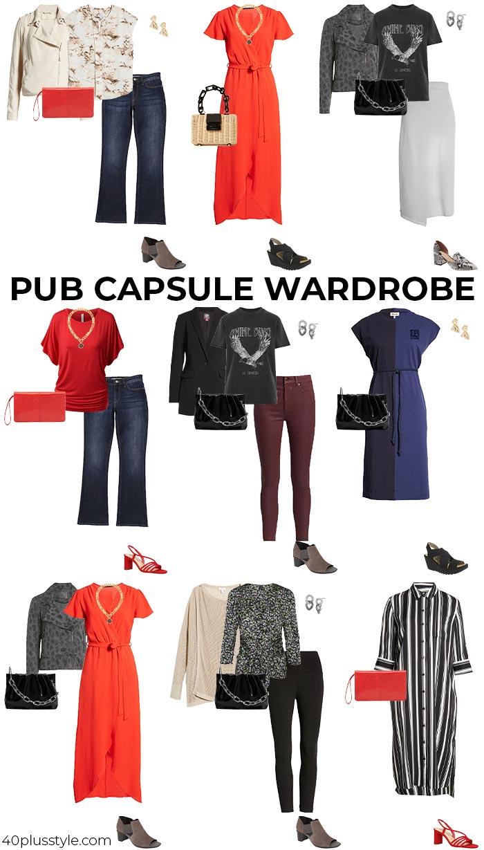 Pub capsule wardrobe   40plusstyle.com