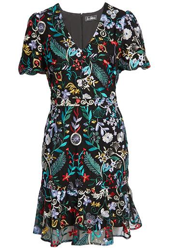 Sam Edelman embroidered puff sleeve dress | 40plusstyle.com