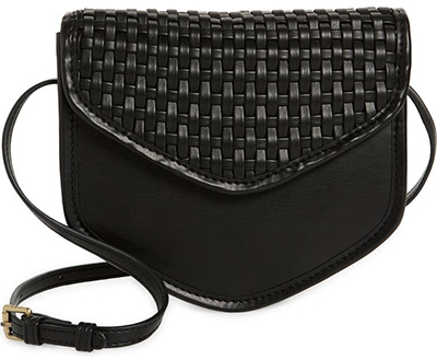 Street Level woven faux leather crossbody bag   40plusstyle.com