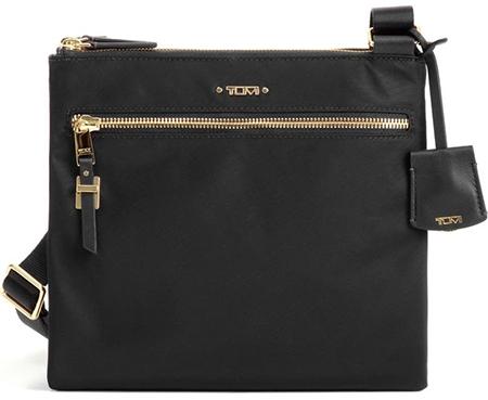 Tumi nylon crossbody bag | 40plusstyle.com