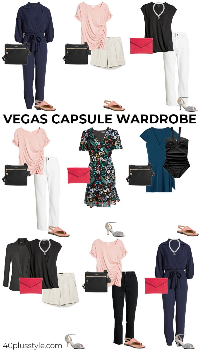 Vegas capsule wardrobe | 40plusstyle.com