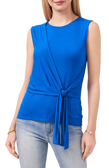 Nordstrom anniversary sale - Vince Camuto Tie Front Sleeveless Top | 40plusstyle.com