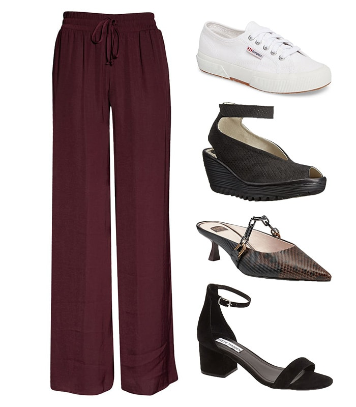 Shoes that go with wide leg pants   40plusstyle.com