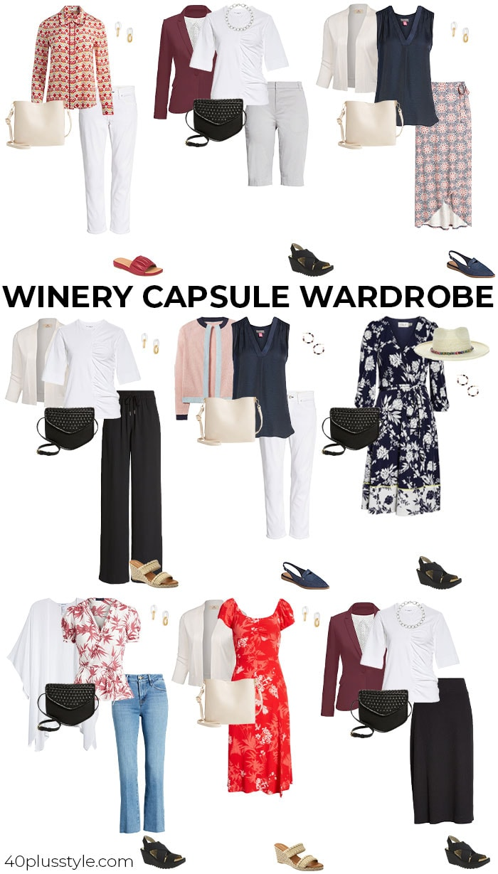 Winery capsule wardrobe   40plusstyle.com