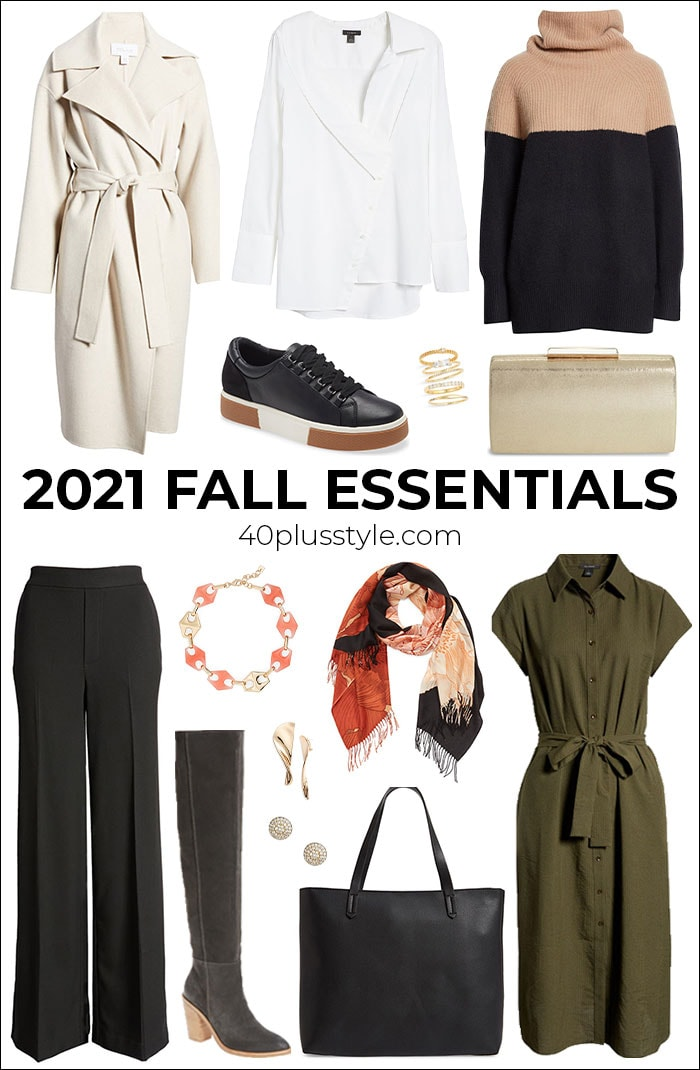 All the 2021 fall essentials you need to create your new season 2021 outfits | 40plusstyle.com