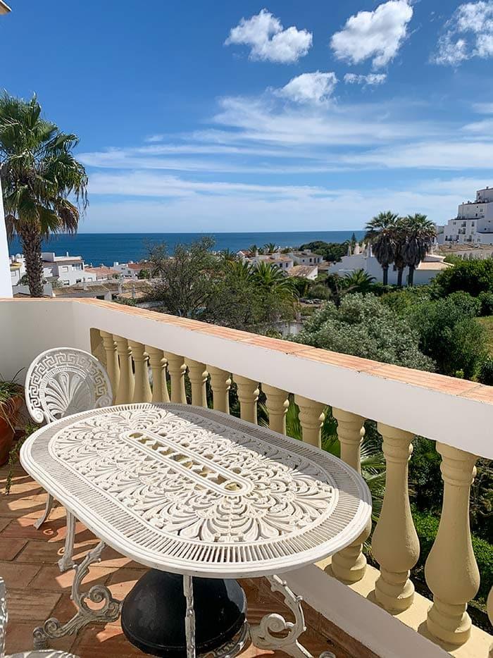 Enjoy the balcony of our apartment in Praia da Luz   40plusstyle.com