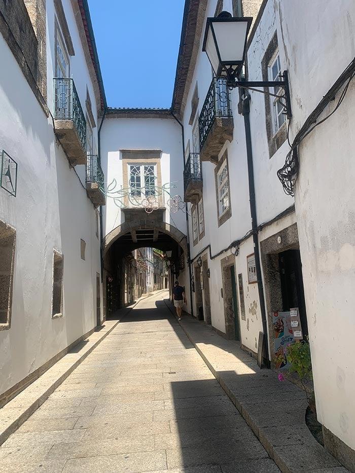 old medieval street in Guimares