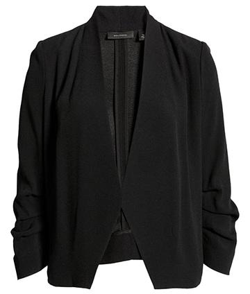 Halogen open ruched sleeve blazer | 40plusstyle.com