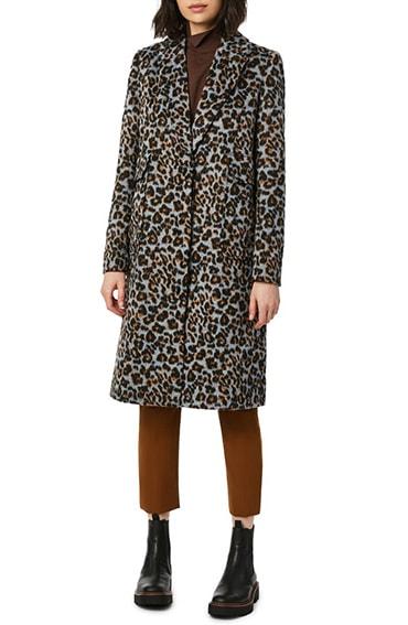 Bernardo animal print coat | 40plusstyle.com