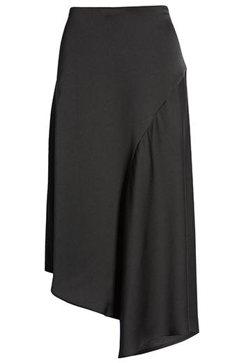 Nordstrom asymmetric satin skirt | 40plusstyle.com