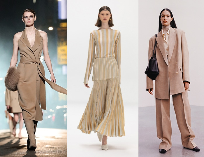 Beige in the fall 2021 color trends / 40plusstyle.com