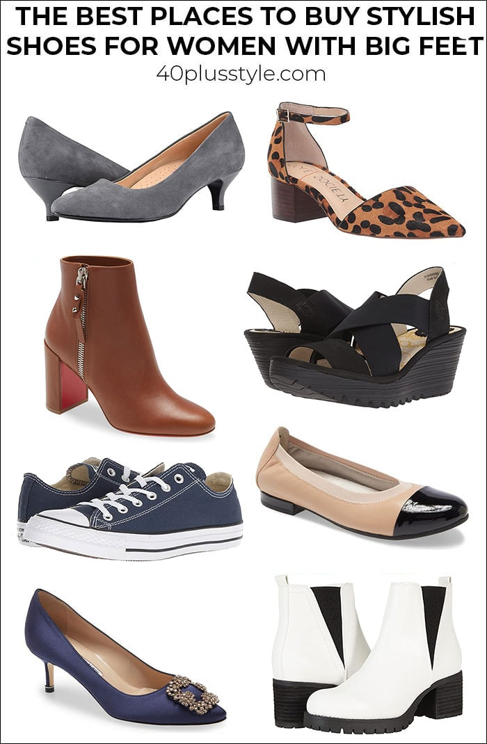 The best places to buy stylish shoes for women with big feet | 40plusstyle.com