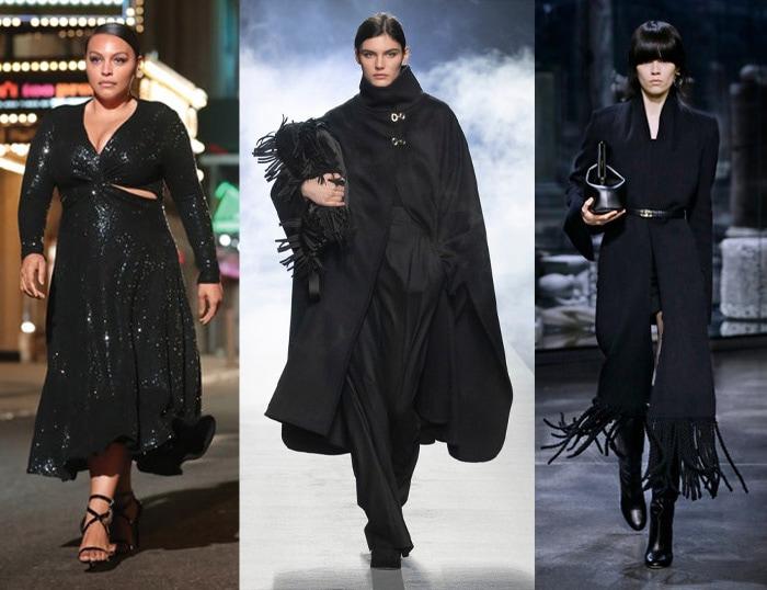 Black on the catwalks / 40plusstyle.com