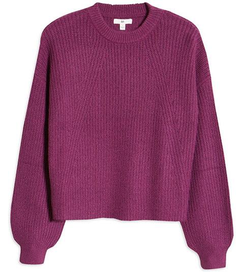 BP. rib crop sweater | 40plusstyle.com