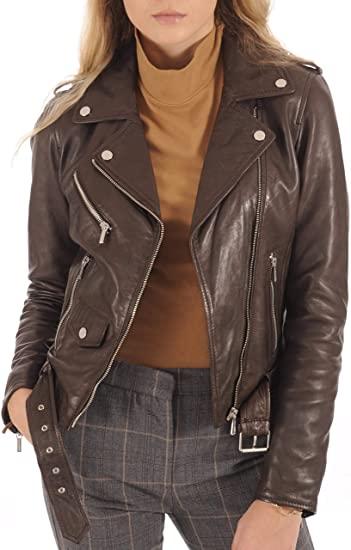 KYZER KRAFT lambskin leather biker jacket | 40plusstyle.com