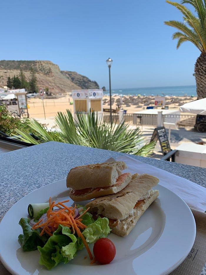 Cafes and restaurants on the boulevard of Praia da Luz   40plusstyle.com