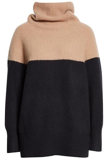 Nordstrom colorblock cashmere sweater | 40plusstyle.com