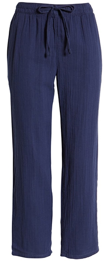 Caslon textured cotton pull-on pants | 40plusstyle.com
