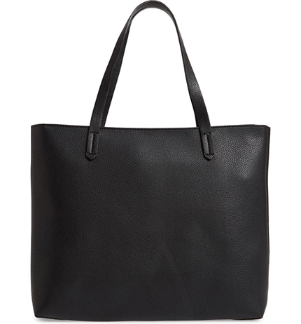 BP. faux leather classic tote | 40plusstyle.com