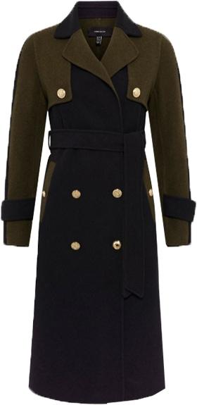 Karen Millen colorblock wool coat | 40plusstyle.com