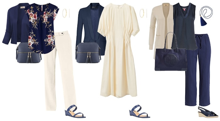 navy and cream outfit ideas | 40plusstyle.com