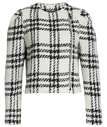 Ted Baker London plaid crop jacket | 40plusstyle.com