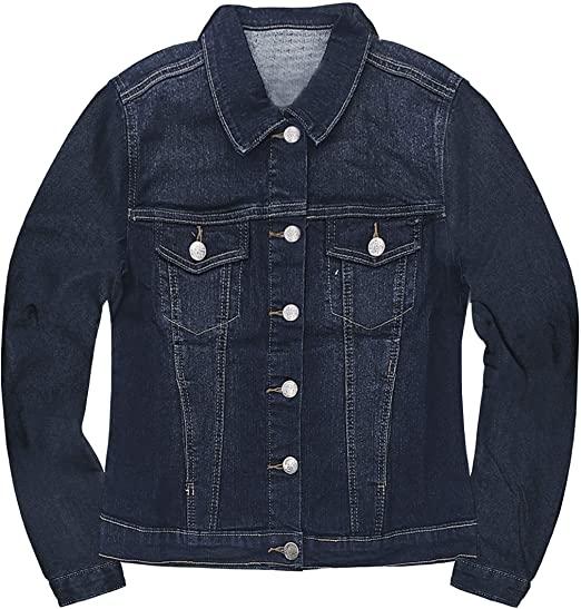 HyBrid & Company denim jacket   40plusstyle.com