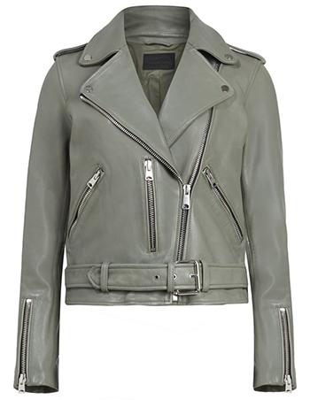 AllSaints leather biker jacket | 40plusstyle.com