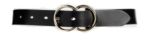 Halogen double ring leather belt   40plusstyle.com