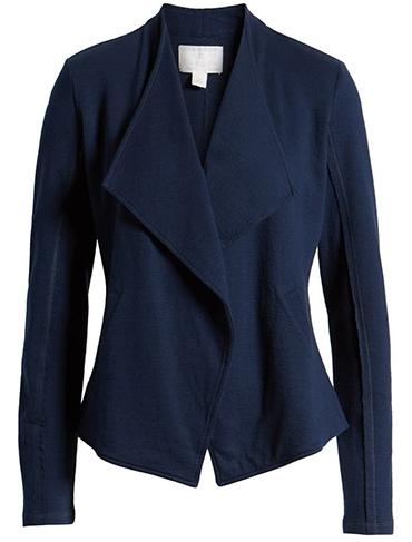 Caslon drape collar knit blazer | 40plusstyle.com