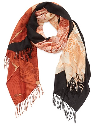 Nordstrom tissue print wool & cashmere wrap scarf | 40plusstyle.com