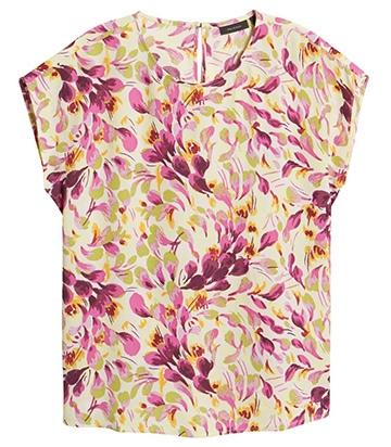 Halogen cap sleeve blouse | 40plusstyle.com