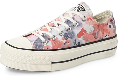 Chuck Taylor®All Star®washed floral platform sneaker | 40plusstyle.com