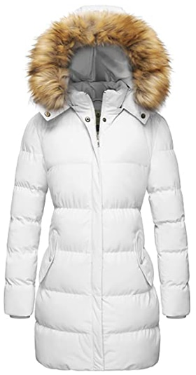 WenVen puffer jacket with removable fur hood | 40plusstyle.com