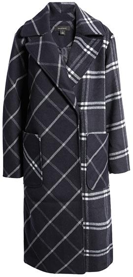 Halogen plaid coat | 40plusstyle.com
