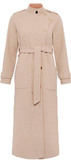 Karen Millen funnel neck wool coat | 40plusstyle.com