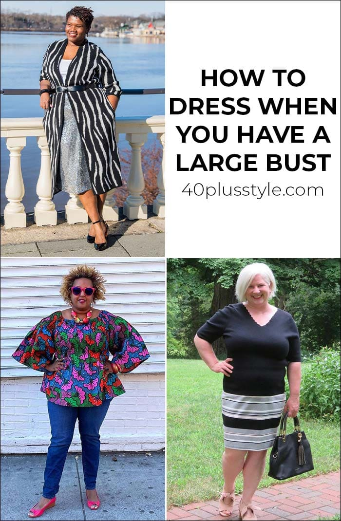 How to dress when you have a large bust   40plusstyle.com