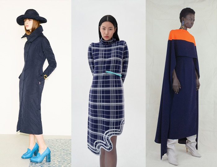 Indigo and navy for winter and fall / 40plusstyle.com