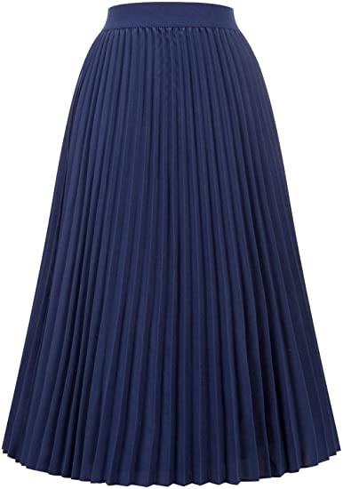 Kate Kasin pleated swing skirt | 40plusstyle.com