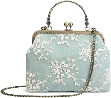 Rejolly kiss lock lace handbag| 40plusstyle.com