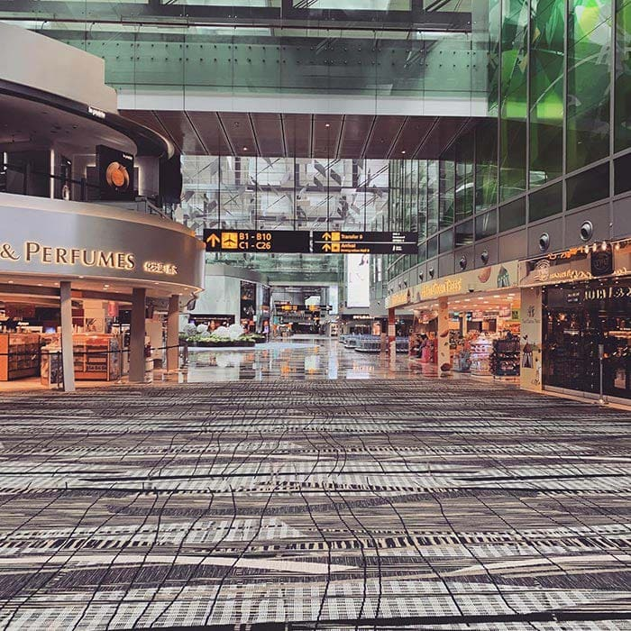 An empty Changi Airport in May 2020 | 40plusstyle.com