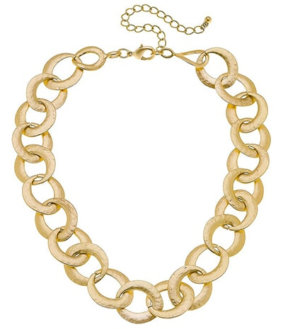 Canvas Jewelry chain link necklace   40plusstyle.com