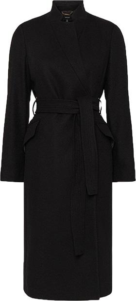 Karen Millen Italian wool blend notch coat | 40plusstyle.com