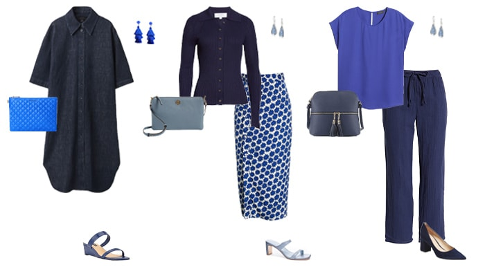 navy and light blue outfit ideas | 40plusstyle.com