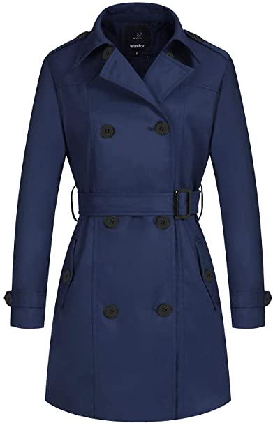 Wantdo waterproof double-breasted trench coat | 40plusstyle.com
