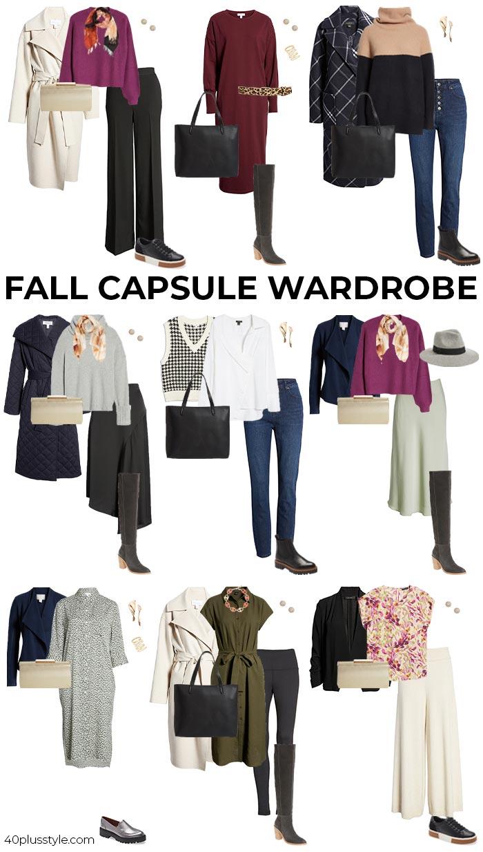 2021 fall essentials capsule wardrobe | 40plusstyle.com
